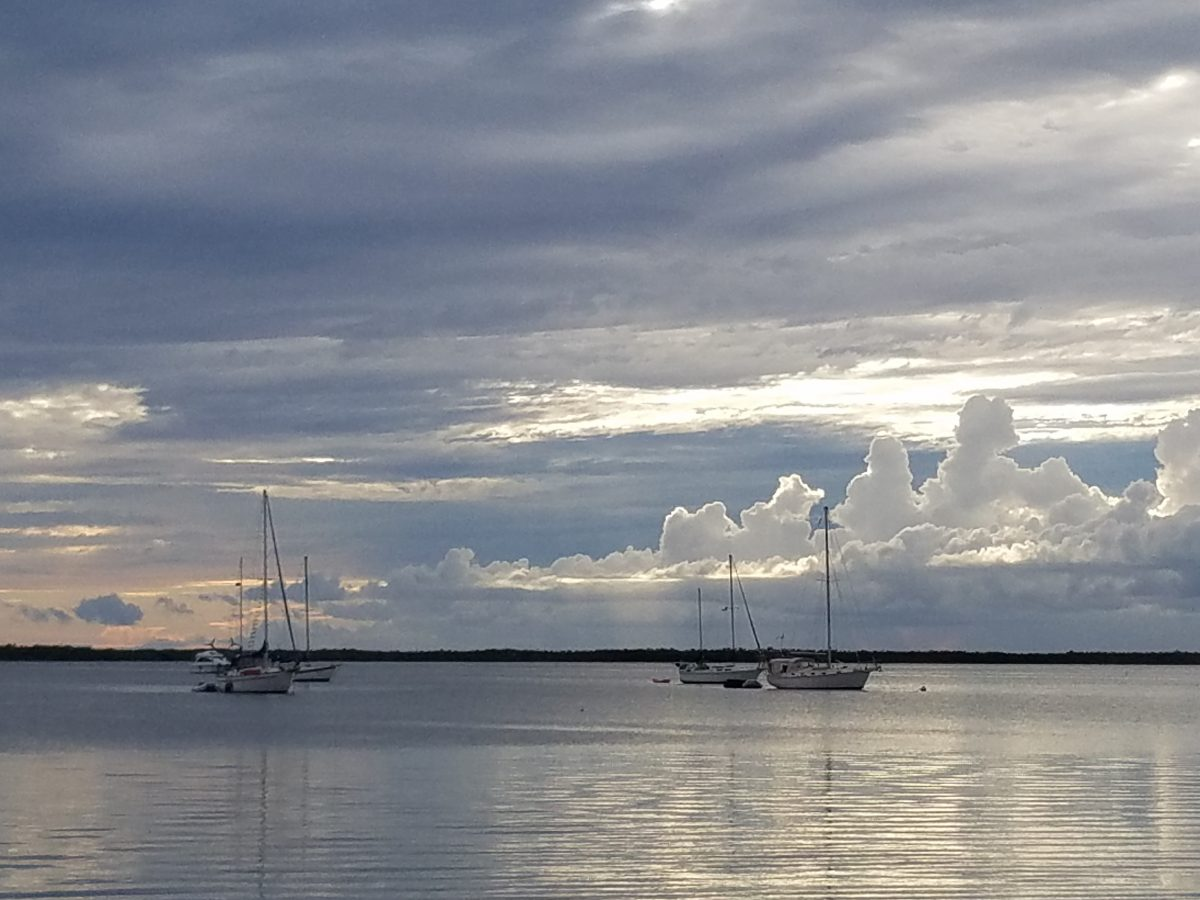 View across Scallop Bay